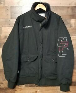 Rare UFC Ultimate Fighting Championship Coat Jacket XXXL Spell-Out Embroidered