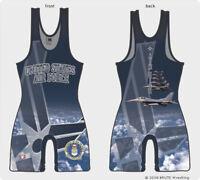 Air Force wrestling singlet - High cut