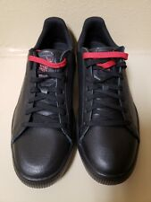 """Puma """"Clyde"""" Black w/ Red extra Laces - Men's 11"""