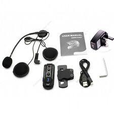 FM Radio BT 1000M Interphone Bluetooth Motorbike Motorcycle Helmet Intercom Head