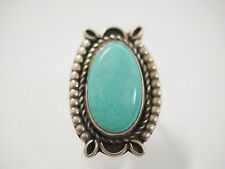 Large Ladies Navajo Turquoise ring size 15 Sterling Silver