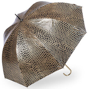 Soake Metallic Dome UV Protective Umbrella - Golden Snake