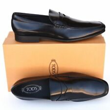 TOD'S Tods New sz UK 12.5 US 13.5 Mens Designer Leather Loafers Shoes black