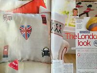 CROSS STITCH CHART 6 London Designs Red Bus Union Jack Taxi Picture PATTERN