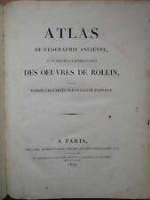 ROLLIN : ATLAS DE GEOGRAPHIE ANCIENNE, 1819. In folio, 27 cartes par Tardieu.