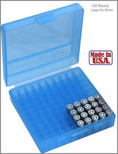 New MTM 380/9MM Cal 100 Round Flip-Top Ammo Box Glock  Ideal for storing reloads