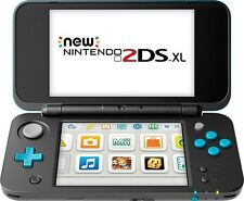 Nintendo 2DS XL Black/Turquoise+30 games/gifts Minecraft Mario Zelda Pokemon