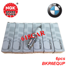 NGK 6PCS Spark Plugs Double Laser Platinum BKR6EQUP  3199 -12120037607 fit BMW