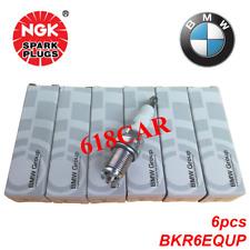 NGK 6PCS Spark Plugs Double Laser Platinum BKR6EQUP  3199 -12120037607 fit BMW