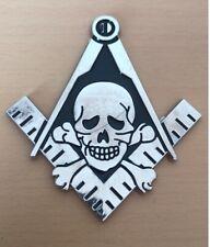 New listing Masonic Skull Cross Bones pin badge Square Compass Freemason Hiram Abiff