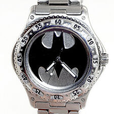 Batman Mans Fossil Warner Bros Studio Store Stainless Steel Watch Rare Only $189