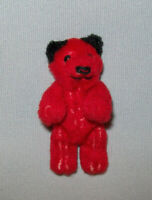 "Old Antique Vtg Ca 1950s Miniature Jointed Schuco Red Teddy Bear 2.75"" Tall Nice"