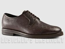 GUCCI mens 8* Brown leather DIAMANTE Oxford CARNEY Derby shoes NIB Authentc $750