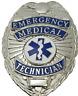 EMT Emergency Medical Technician Metal Badge in Silver Color