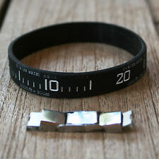 """""""OYSTER BEZEL"""" SILICONE WRISTBAND WITH EXTRA CLASP, BLACK SUBMARINER DESIGN"""