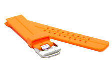 24mm Orange Diver Double Tang Buckle Style MODENA Rubber watch band / Strap