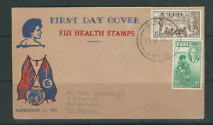 FIJI 1951 HEALTH STAMPS on illustrated FDC to Christchurch New Zealand