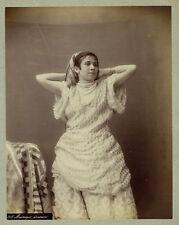 Photo Algérie vers 1880 femme danseuse mauresque Africa albumen print