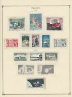 france 1965 stamps page mounted mint & used ref 17491