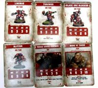 BloodBowl 2016 orc Player Stat Cards blood bowl