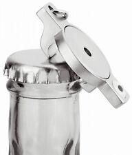 2 Stück Schlüsselanhänger Chiphalter Metall Einkaufswagenchip + Flaschenöffner