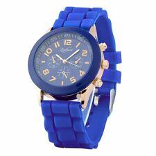 Темно-синий унисекс, мужской, Женский, силиконовые гелевые кварцевые аналоговые спортивные наручные часы новые