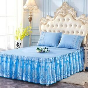 Flower Floral Bed Skirt Dust Ruffle Bedspread Or 2 Pillowcases All Sizes Bedding