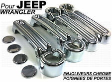 SET CHROME EXTERIOR DOOR HANDLE COVERS COVER TRIM JEEP WRANGLER 07-15 CRD V6 4X4