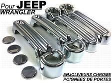 ENJOLIVEURS CHROME COUVRE POIGNEES PORTES JEEP WRANGLER JK 07-15 CRD V6 4X4 4WD
