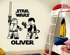 LARGE STAR WARS LEGO Luke Skywalker/Han Solo BEDROOM WALL ART STICKER  DECAL