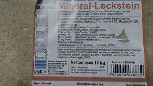 Mineralleckstein 20kg Mineral Salzleckstein Leckstein sämtl Tiere 0,39€/Kg NEU