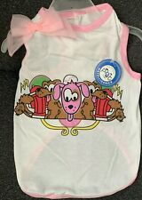 NWT PETELLIGENCE DOGIE T-SHIRT ( DOGS & CATS)  (SHIPS FAST FROM CA) SIZE SMALL