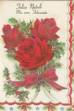 1 Italian Christmas Greeting Card 9285 Sweetheart female Fidanzata Bride to be