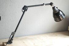 Alte blaue Tischlampe Gelenklampe Midgard DRGM Bauhaus table wall hinged lamp