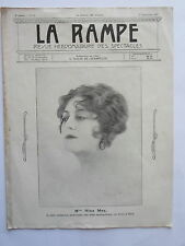 Mme Nina MAY REVUE la RAMPE THEATRE CONCERT MUSIC HALL n° 83 1917