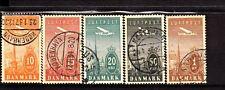 Denmark Stamps, #85/90-92/94 Mnh Used Cv 146 Euro