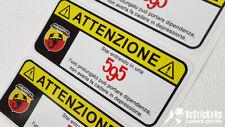 UN adesivo ATTENZIONE 500 abarth 595 500 serie limitata warning divertente