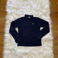 Lacoste Boys Long Sleeve Polo Shirt Blue Size 16