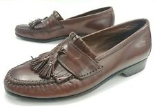 Johnson and Murphy Mens 6 Brown Leather Tassel Loafer Slip On Shoes