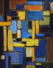 Tableau art abstrait composition abstraite abstraction lyrique huile art moderne