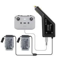 3 in 1 Mavic Car Charger Dual Battery & Controller for DJI Mavic Air 2 Drone US