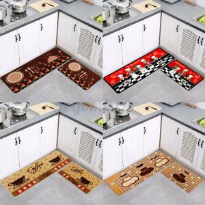 🇦🇺 Non-Slip Waterproof Kitchen Door Mat Machine Washable Home Floor Rug