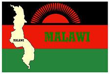 Malawi (SOUTHEAST AFRICA) Mappa & BANDIERA - Negozio di souvenir novità