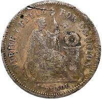 1866 Peru -  1/5 Sol 1866 YB - Silver - High Grade Circulated Coin. KM191  #4