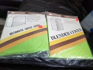 New Vintage Green Quilted Appliance Covers Blender & Instamatic Coffee UNOPENED