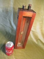 LARGE WALL MOUNTED MANOMETER, VINTAGE {PHYSICS}, UNSIGNED