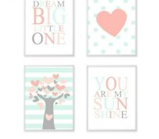 Canvas Posters And Prints Nursery Quotes Wall Art Painting Baby Room Decorations
