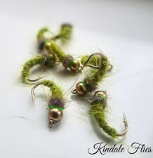 Olive Nymphs Size 10(Set Of 3) Fly Fishing Trout Flies Dubbing
