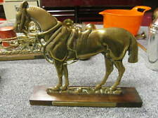 Vintage Brass door stop/ fireplace hearth horse figure early 1900c Gretna Green