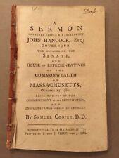 Samuel Cooper / sermon preached before His Excellency John Hancock Esq 1st ed
